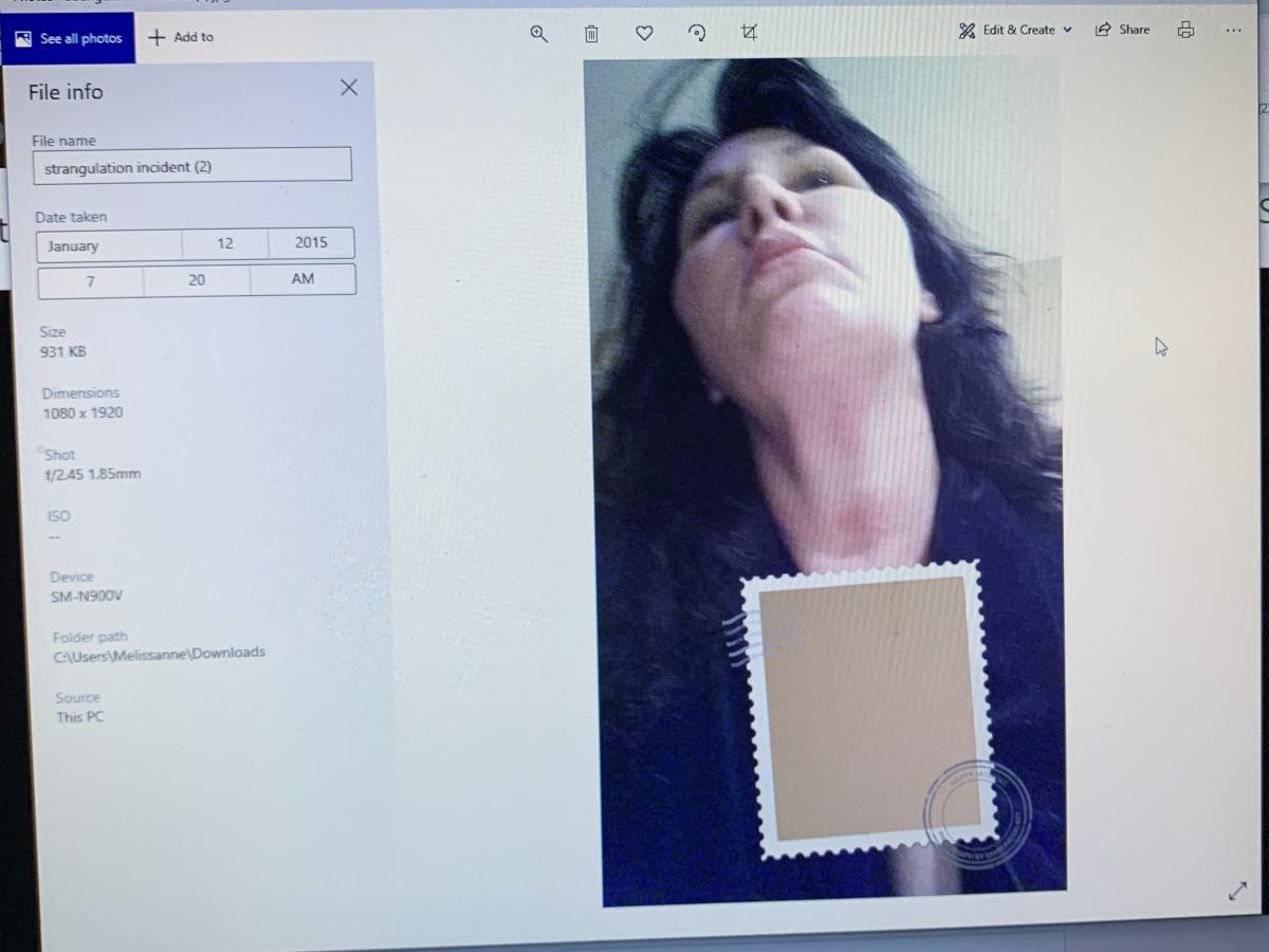 Velyvis Strangulation Newly Discovered Metadata  Concerning Photographic Evidence of the EgregiousCrime